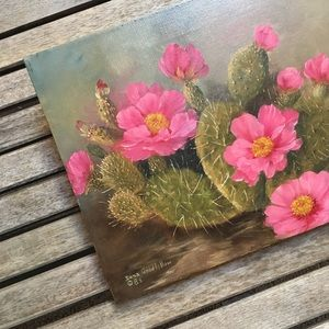 Other - Dona Goodfellow Cactus Oil Painting